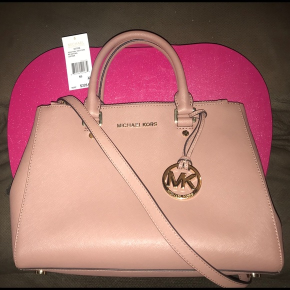 d8efea88f1 Michael Kors Sutton Dusty Rose Satchel. M 5bac2cdf45c8b3dc4bb3e4cc